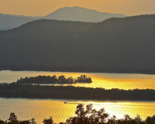 Sunset view of Lake George